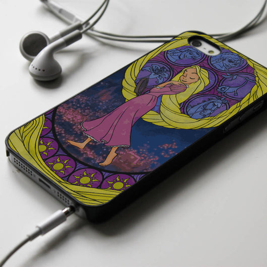 Tangled Rapunzel Stained Glass iPhone 4/4S, iPhone 5/5S, iPhone 5C Case, Samsung Galaxy S4/S5 Cases
