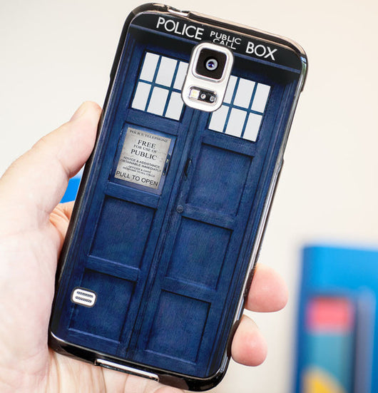Doctor Who Tardis Cover - Plastic / Rubber Samsung Galaxy S3 S4 S5 and Note 3 Cases