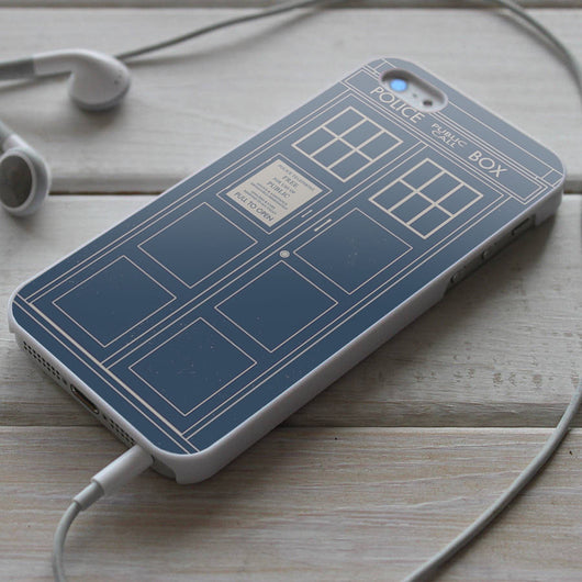 Minimallist Tardis Doctor Who iPhone 4/4S, iPhone 5/5S, iPhone 5C Case, Samsung Galaxy S4/S5 Cases
