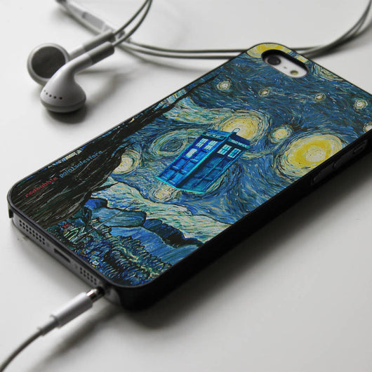 Tardis Starry Night - Doctor Who iPhone 4/4S, iPhone 5/5S/5C, iPhone 6 Case, Samsung Galaxy S4/S5 Cases