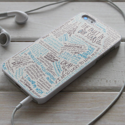 The Fault in Our Stars TFIOS Quotes 2 - iPhone 4/4S, iPhone 5/5S/5C, iPhone 6 Case, Samsung Galaxy S4/S5 Case