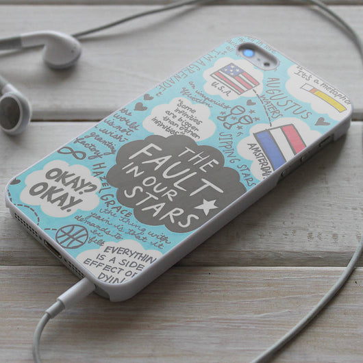 The Fault in Our Stars TFIOS Quotes - iPhone 4/4S, iPhone 5/5S/5C, iPhone 6 Case, Samsung Galaxy S4/S5 Case