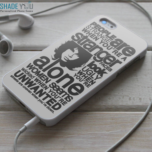 The Doors People Are Strange Lyrics Lyrics iPhone 4/4S, iPhone 5/5S/5C, iPhone 6 Case, Samsung Galaxy S4/S5 Cases