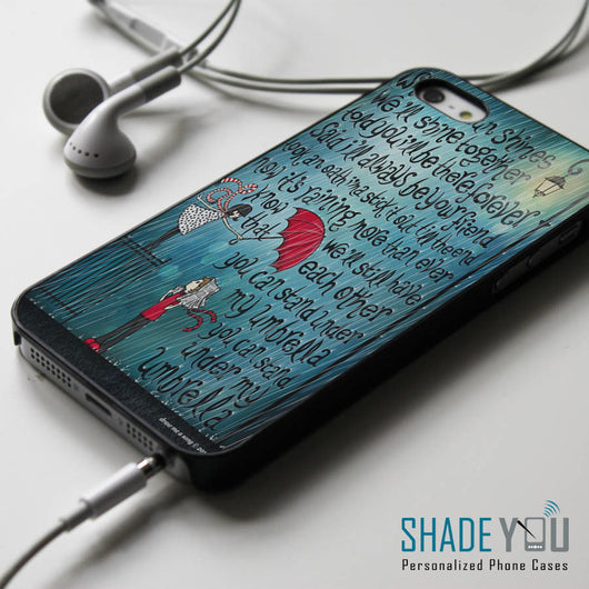 Rihanna Umbrella Lyrics iPhone 4/4S, iPhone 5/5S/5C, iPhone 6 Case, Samsung Galaxy S4/S5 Cases