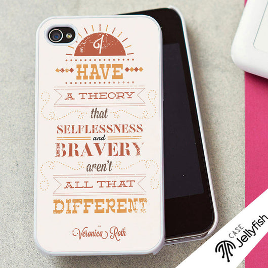 Veronica Roth Divergent Quotes - iPhone 4/4S, iPhone 5/5S/5C, iPhone 6 Case, Samsung Galaxy S4/S5 Case