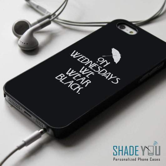 On Wednesdays We Wear Black American Horror Story Coven - iPhone 4/4S, iPhone 5/5S/5C, iPhone 6 Case, Samsung Galaxy S4/S5 Cases