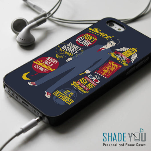 Doctor Who 10th Collage Quotes iPhone 4/4S, iPhone 5/5S, iPhone 5C Case, Samsung Galaxy S4/S5 Cases