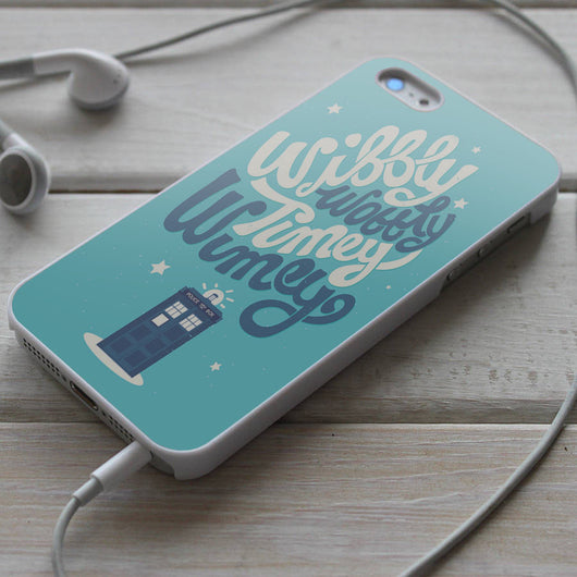Wibbly Wobbly Timey Wimey - Tardis iPhone 4/4S, iPhone 5/5S/5C, iPhone 6 Case, Samsung Galaxy S4/S5 Cases