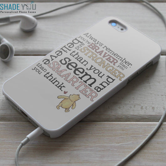 Winnie The Pooh Quotes iPhone 4/4S, iPhone 5/5S, iPhone 5C Case, Samsung Galaxy S4/S5 Cases