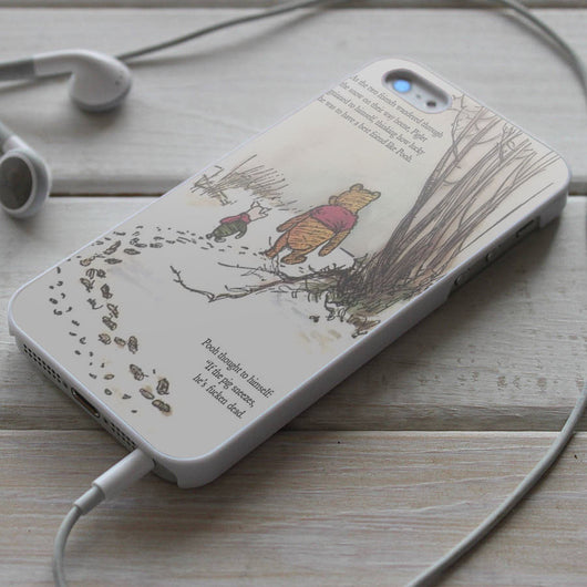 Winnie The Pooh Quotes - iPhone 4/4S, iPhone 5/5S/5C, iPhone 6 Case, Samsung Galaxy S4/S5 Cases