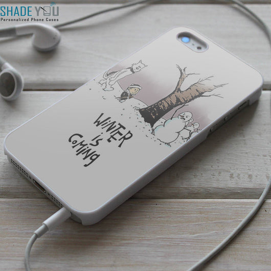 Calvin and Hobbes Winter is Coming iPhone 4/4S, iPhone 5/5S, iPhone 5C Case, Samsung Galaxy S4/S5 Cases
