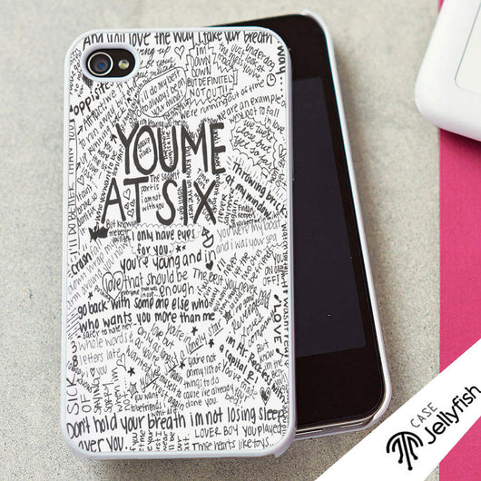 You Me at Six Lyrics - iPhone 4/4S, iPhone 5/5S/5C, iPhone 6 Case, Samsung Galaxy S4/S5 Case