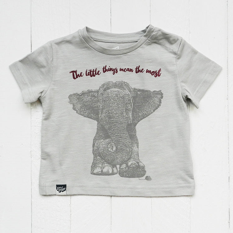 cc3f141b7 Lion of Leisure Baby T-shirt with 2-colour ELEPHANT and mouse print ...