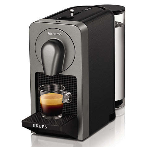 Nespresso Prodigio Coffee Machine by KRUPS with Bluetooth, Titanium - XN410T40