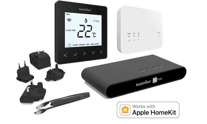 Heatmiser NeoAir Kit Gen 2 Glacier White - HomeKit Enabled Wireless Smart Thermostat