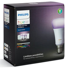 Philips Hue White and Colour Ambiance Starter Kit with 3 Bulbs, 10W B22 Bayonet Cap