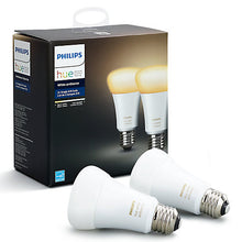 Philips Hue White Ambiance Light Bulbs 9.5W A60 E27 Edison Screw Bulbs, Pack of 2 - Boxed