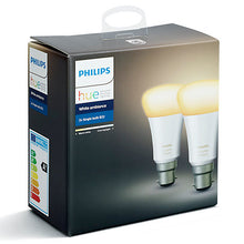 Philips Hue White Ambiance Light Bulbs, 9.5W A60 B22 Bulbs, Pack of 2 - Boxed