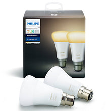 Philips Hue White Ambiance Light Bulbs, 9.5W A60 B22 Bulbs, Pack of 2 - Unboxed