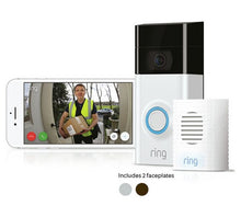 Ring Video Doorbell 2 and Chime with Smartphone