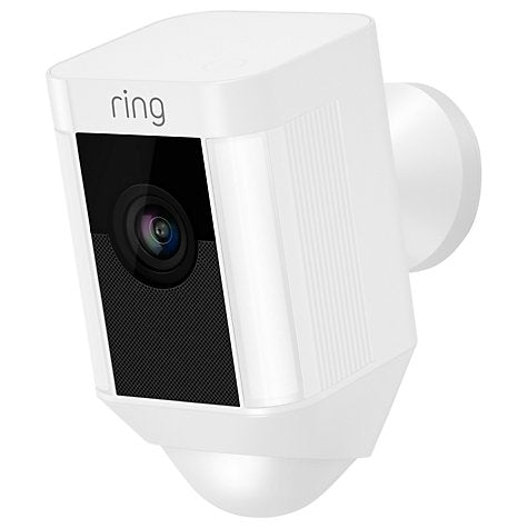 Ring Spotlight Smart Security Camera - Battery - White