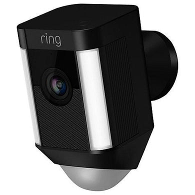 Ring Spotlight Smart Security Camera - Battery - Black