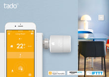 tado° Horizontal Smart Radiator Thermostat Starter Kit - In The Home