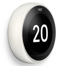 Nest Learning Thermostat 3rd Generation - White Side View