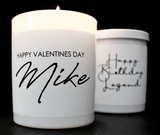 Custom Candles (B+W / Text Only)