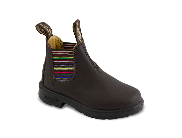 BLUNDSTONE KID BROWN MULTI ELASTIC 1413