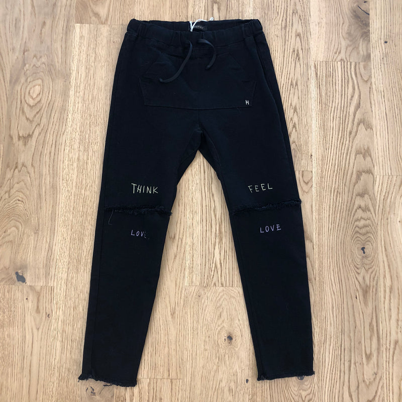 "Happiness Turca Kids Pantalone ""SLIM"" Nero Cropped Knees"