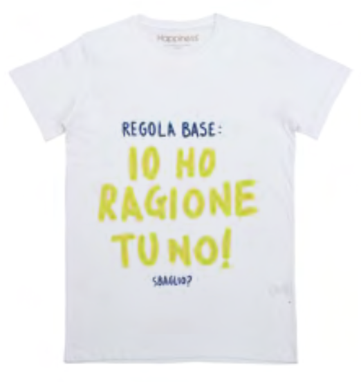 "Happiness T-Shirt Kids Boy ""Io ho ragione"" B1678"