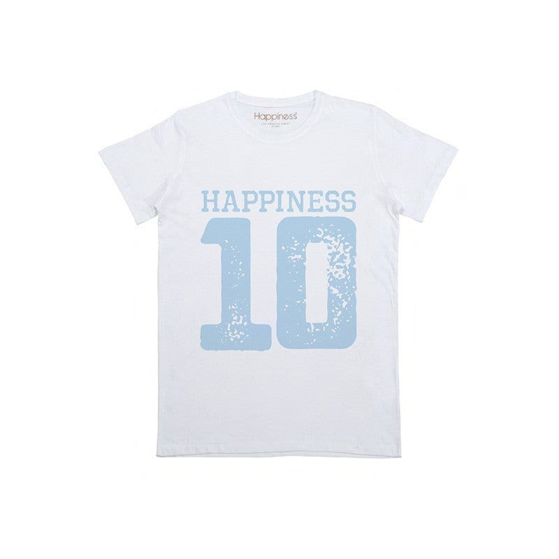 "Happiness T-Shirt Kids Boy ""10"" B1682"