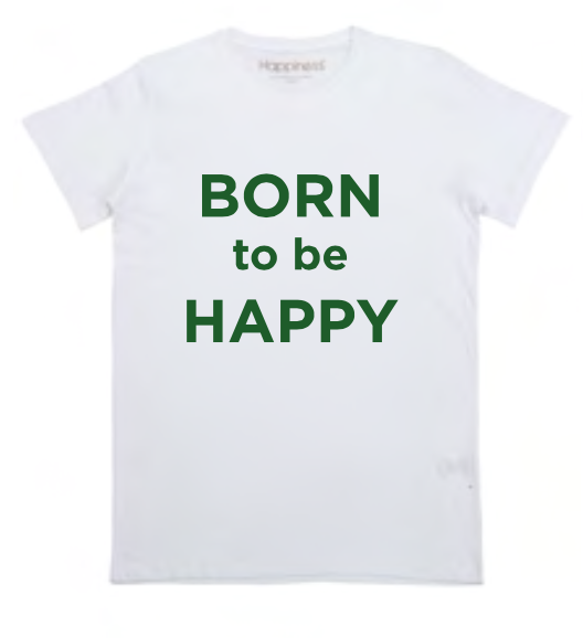 "Happiness T-Shirt Kids Boy ""Born To Be Happy"" B2199"