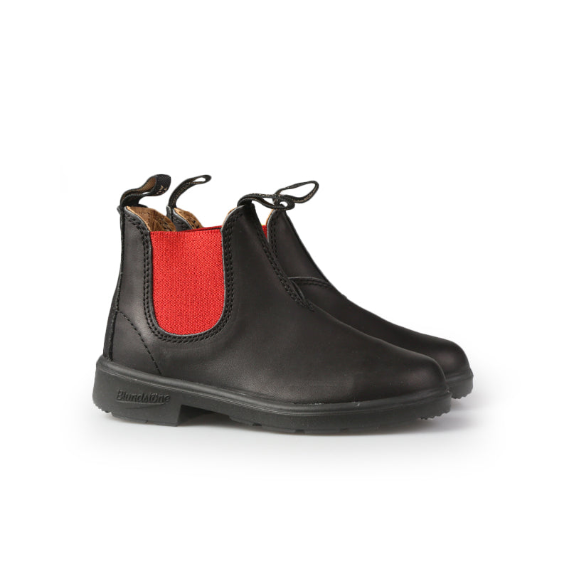 BLUNDSTONE  KID EL SIDE BOOT BLACK RED 581