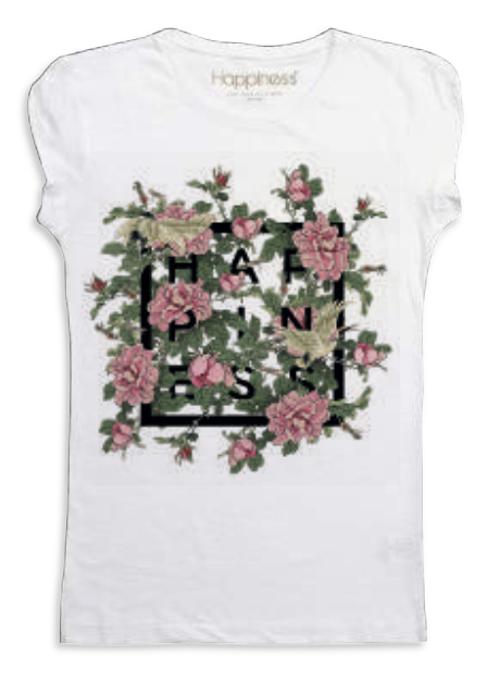 "Happiness T-Shirt Kids Girl ""Rose Happiness"" G1281"