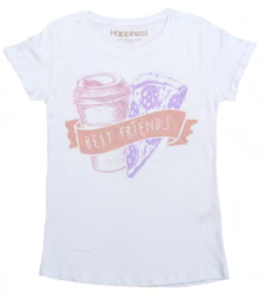 "Happiness T-Shirt Kids Girl ""BEST FRIENDS"" G2378"