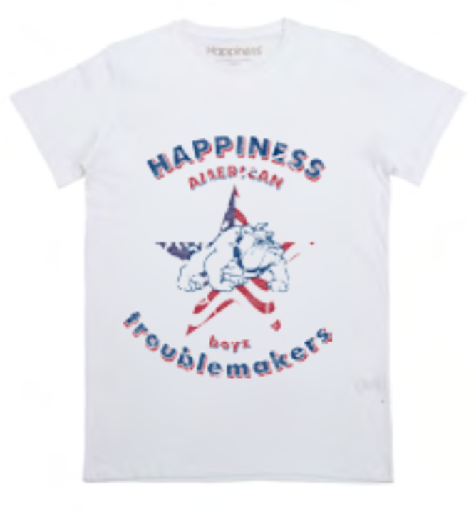 "Happiness T-Shirt Kids Boy ""BULLDOG"" B2357"