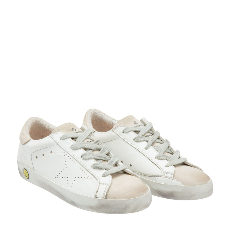 GOLDEN GOOSE SUPERSTAR Sneakers Pelle Bianca / Stella Panna G31KS301.A28