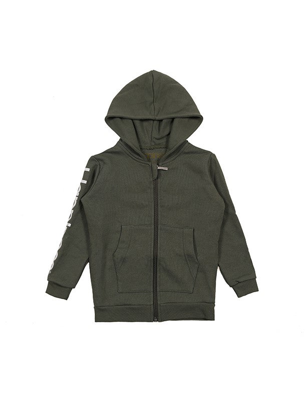 Happiness Zip Kids Military Green K_ZIP