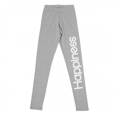 Happiness Leggings Kids Pantalone Grigio