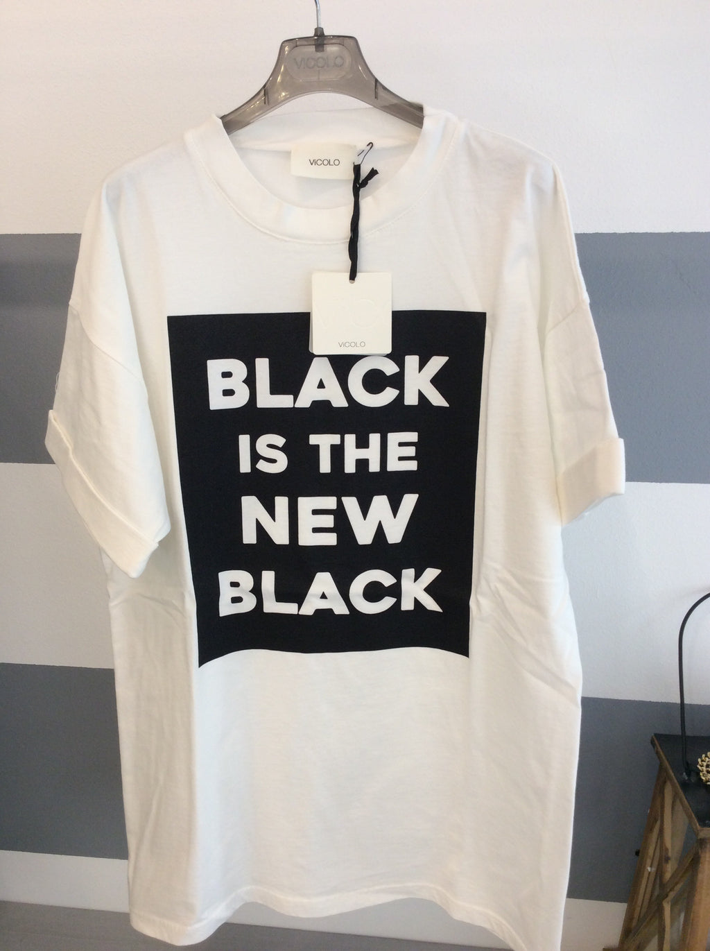T-Shirt Black is the new Black RC0420 Vicolo W17/18