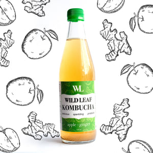 Apple Ginger - Wild Leaf Brew Kombucha