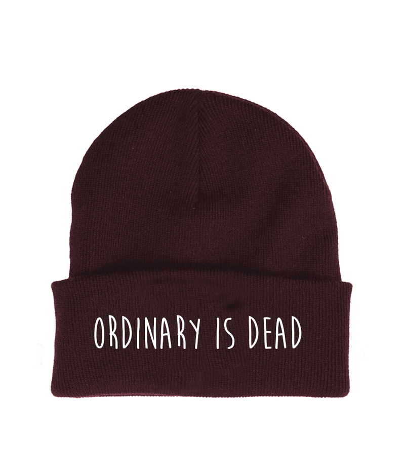 Ordinary is Dead Burgundy Beanie