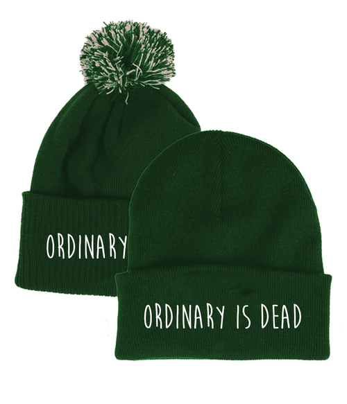 Ordinary is Dead Green Beanie