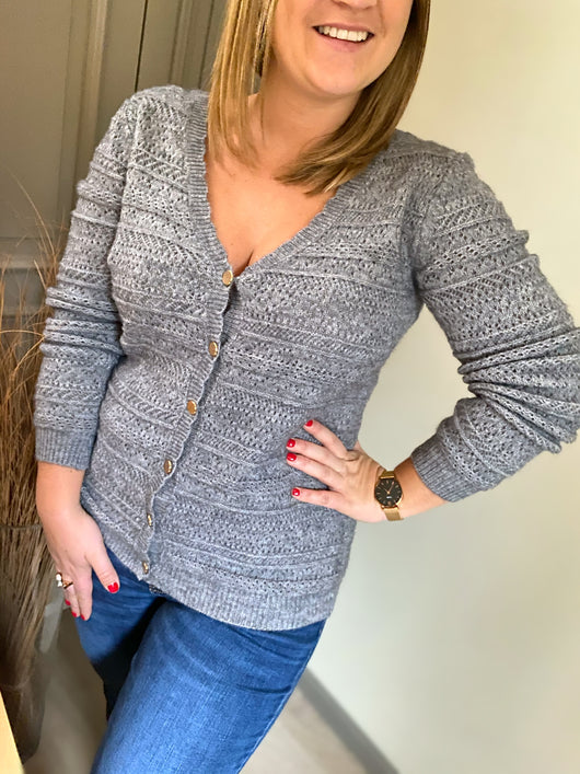 Pull/Gilet Myla gris