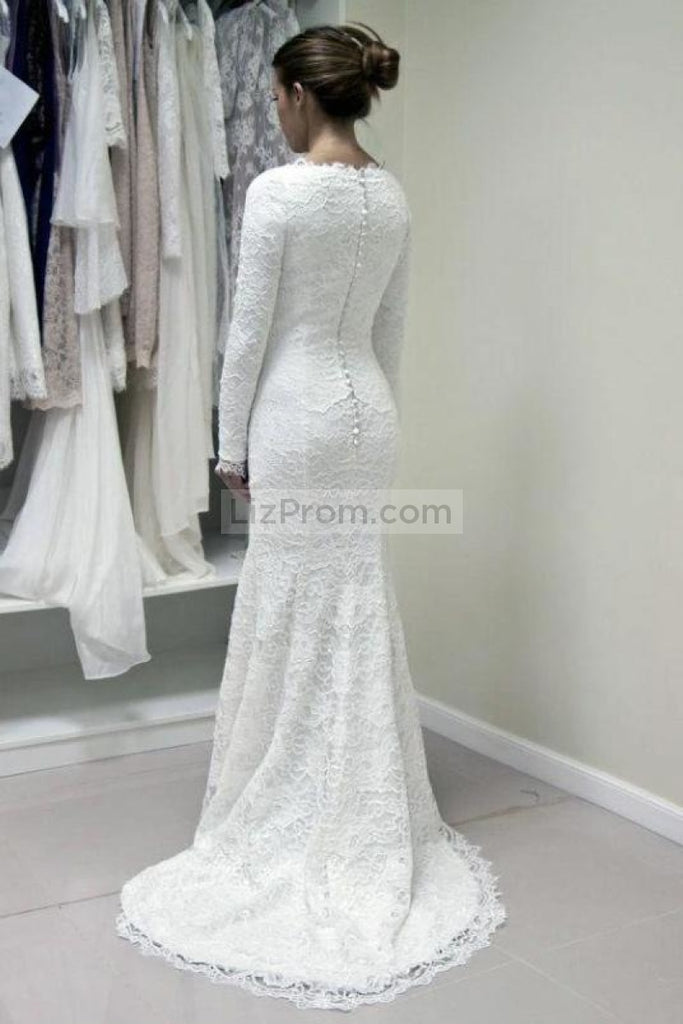 Elegant White Lace Evening Prom Dress Dresses