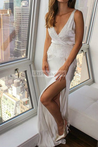 products/2268_Sexy_White_Deep_V-neck_Open_Back_Applique_Slit_Wedding_Dress_2_198.jpg