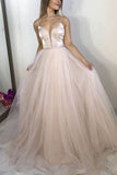 Elegant Spaghetti Strap Sleeveless Formal Evening Princess Dress
