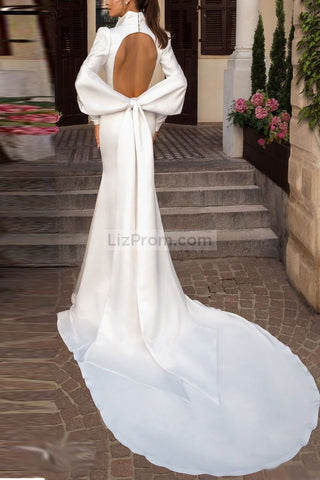 products/2321_Delicate_White_Long_Sleeves_Deep_V-neck_Wedding_Dress_with_Big_Bow_5_538.jpg